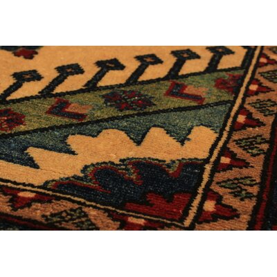 Bernard Hand-Knotted Wool Rectangular Cream/Red Indoor Area Rug