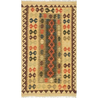 Fieldstone Hand-Woven Wool Light Gold/Olive Indoor Area Rug