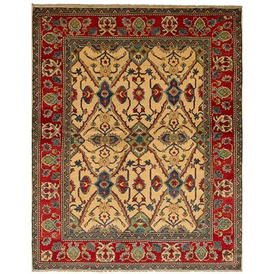 Bernard Hand-Knotted Wool Cream Indoor Area Rug