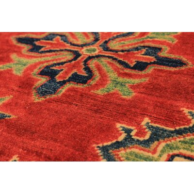 One-of-a-Kind Bernard Traditional Hand-Knotted Wool Red Area Rug