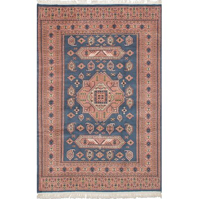 Orangetree Hand-Knotted Wool Light Denim/Blue Indoor Area Rug