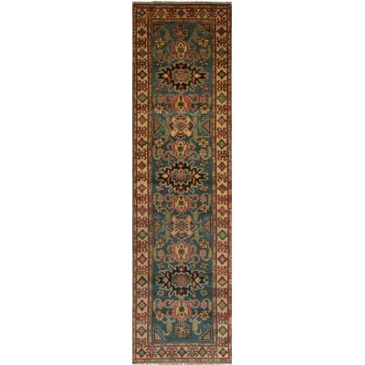 Bernard Hand-Knotted Wool Turquoise Indoor Area Rug