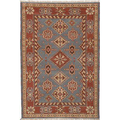 Berkshire Hand-Knotted Wool Dark Copper/Gray Indoor Area Rug