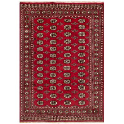 Olney Springs Hand-Knotted Wool Red Indoor Area Rug
