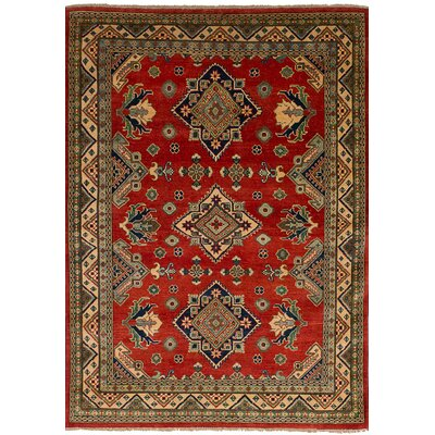Bernard Hand-Knotted Wool Red Indoor Area Rug