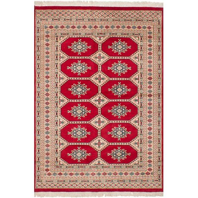 One-of-a-Kind Onondaga Hand-Knotted 100% Wool Red/Beige Indoor Area Rug