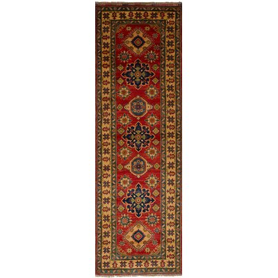 One-of-a-Kind Bernard Hand-Knotted Wool Red/Brown Indoor Area Rug