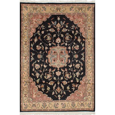 One-of-a-Kind Unionville Hand-Knotted Wool Black/Beige Area Rug