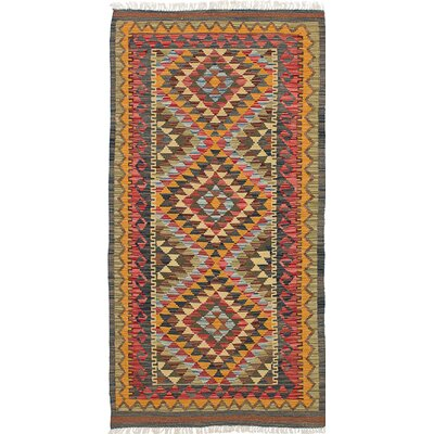 One-of-a-Kind Fianna Handmade Wool Yellow/Brown Area Rug
