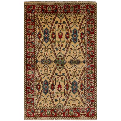 One-of-a-Kind Bernard Hand-Knotted Wool Cream Indoor Area Rug