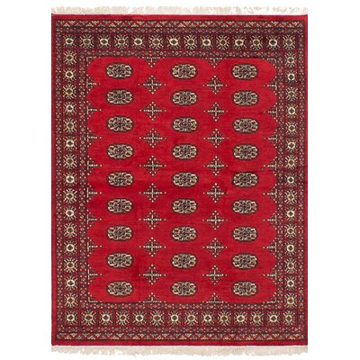 Onondaga Hand-Knotted Wool Red Indoor Area Rug Rug Size: 41 x 510