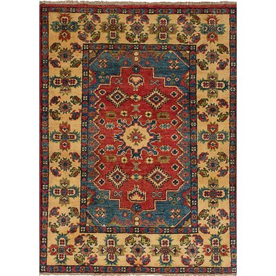 Bernard Hand-Knotted Wool Dark Copper/Navy Blue Indoor Area Rug