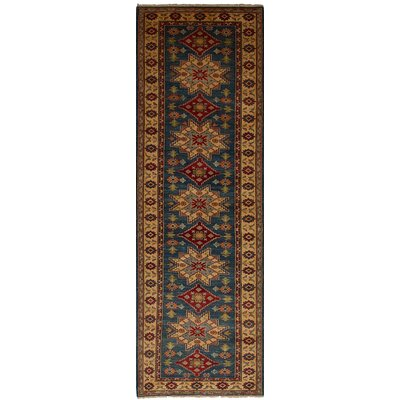 Bernard Hand-Knotted Wool Runner Blue Indoor Area Rug