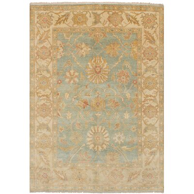 One-of-a-Kind Bassford Traditional Hand-Knotted Wool Light Blue/Beige Area Rug Rug Size: 6 x 87
