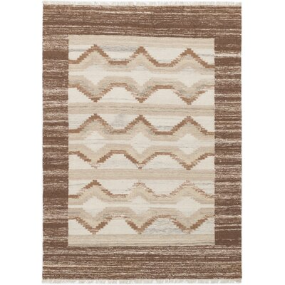 McPhail Hand-Woven Wool Brown/Cream Indoor Area Rug