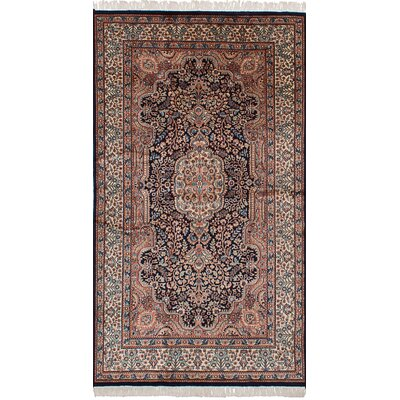 Orangetree Hand-Knotted Wool Copper/Dark Navy Indoor Area Rug