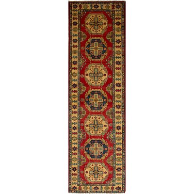 One-of-a-Kind Bernard Traditional Hand-Knotted Weave Wool Red/Yellow Indoor Area Rug
