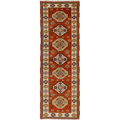 One-of-a-Kind Berkshire Hand-Knotted Wool Orange/Brown Indoor Area Rug