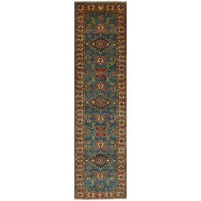 One-of-a-Kind Bernard Hand-Knotted Wool Blue/Brown Indoor Area Rug