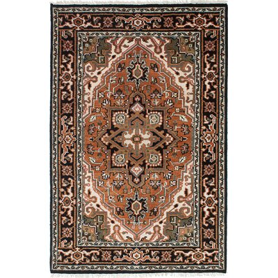 One-of-a-Kind Larsen Hand-Knotted Wool Copper Area Rug Rug Size: 41 x 62
