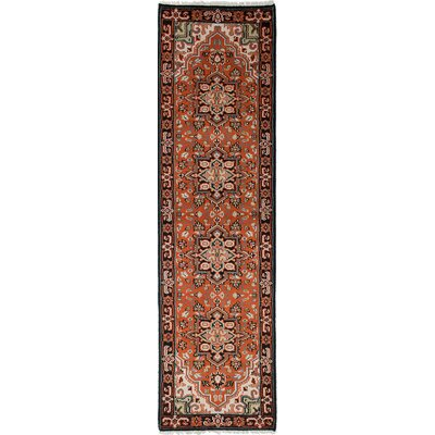Larsen Hand-Knotted Runner Wool Dark Copper Area Rug