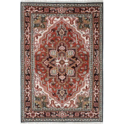 Larsen Hand-Knotted Wool Dark Burgundy Area Rug