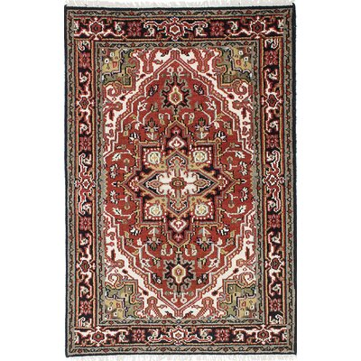 One-of-a-Kind Larsen Oriental Hand-Knotted Wool Dark Red Area Rug Rug Size: 311 x 51