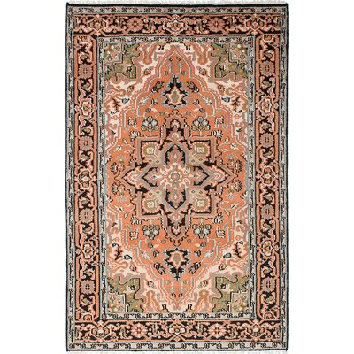 One-of-a-Kind Larsen Hand-Knotted Wool Pink Area Rug
