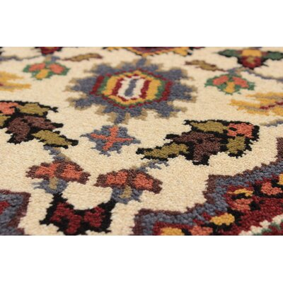 Larsen Hand-Knotted Rectangle Wool Cream Area Rug