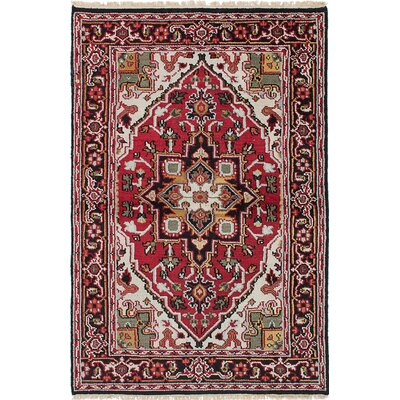 Larsen Oriental Hand-Knotted Wool Red Area Rug