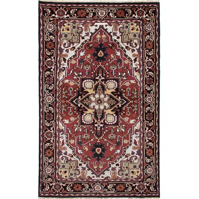 One-of-a-Kind Larsen Hand-Knotted Wool Red Area Rug
