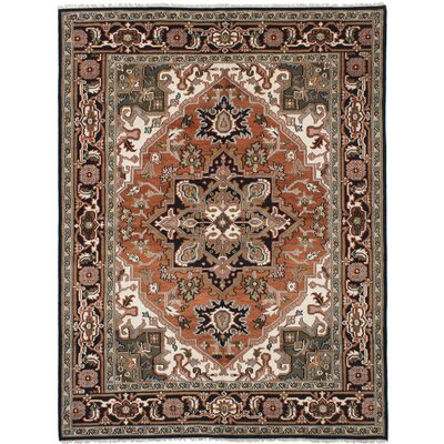 Larsen Hand-Knotted Wool Copper Fringe Area Rug