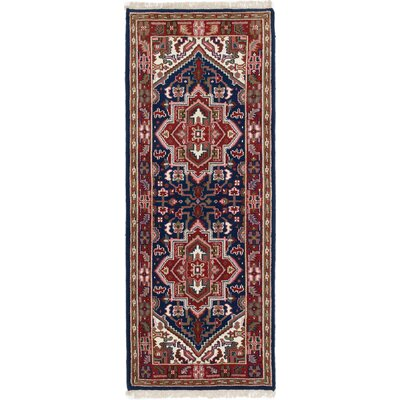 One-of-a-Kind Larsen Hand-Knotted Wool Navy Blue Area Rug Rug Size: 28 x 610
