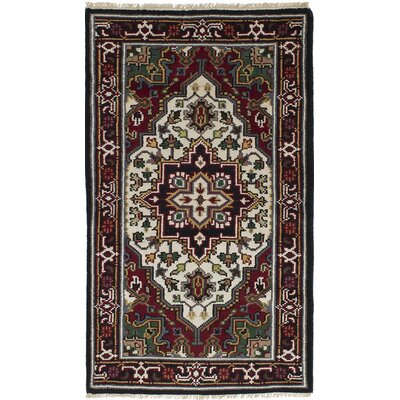 One-of-a-Kind Larsen Hand-Knotted Wool Dark Red Area Rug