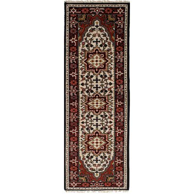 One-of-a-Kind Larsen Hand-Knotted Wool Cream Area Rug Rug Size: Runner 27 x 78