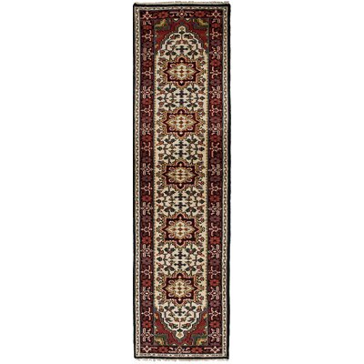 One-of-a-Kind Larsen Hand-Knotted Wool Cream Area Rug Rug Size: Runner 27 x 10