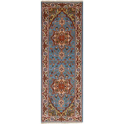Larsen Hand-Knotted Wool Sky Blue Area Rug