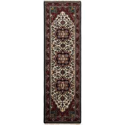 Larsen Hand-Knotted Wool Dark Red Area Rug