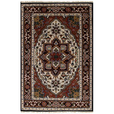 Larsen Hand-Knotted Wool Cream/Dark Copper Area Rug