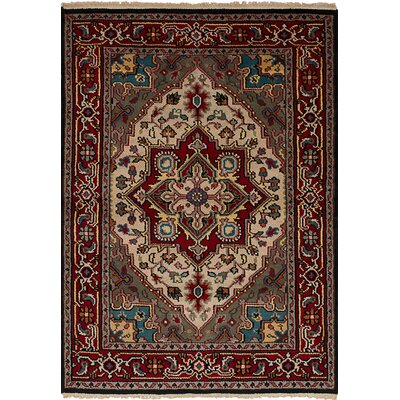 One-of-a-Kind Larsen Oriental Hand-Knotted Wool Red Area Rug