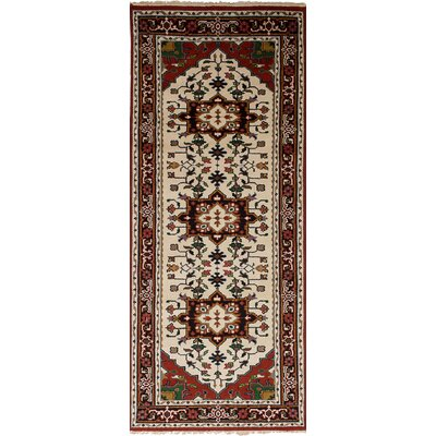 Larsen Hand-Knotted Wool Cream Area Rug