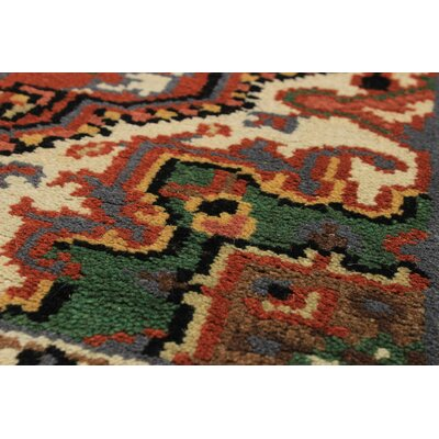 One-of-a-Kind Larsen Hand-Knotted Rectangle Wool Dark Copper Area Rug