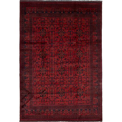Lelia Hand-Knotted Wool Red Area Rug