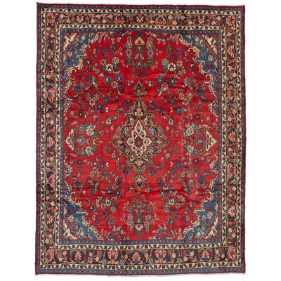 Lesley Hand-Knotted Rectangle Wool Red Area Rug