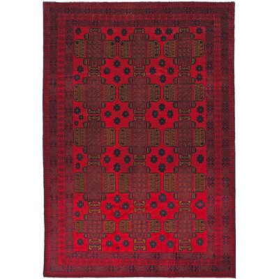 One-of-a-Kind Leslie Handmade Wool Dark Burgundy Area Rug