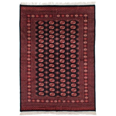 One-of-a-Kind Leticia Handmade Wool Black Area Rug