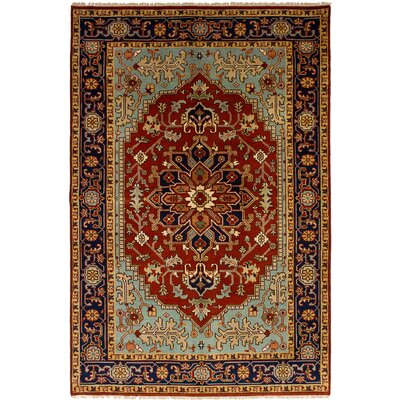 One-of-a-Kind Lenita Handmade Wool Red Area Rug Rug Size: Rectangle 511 x 93