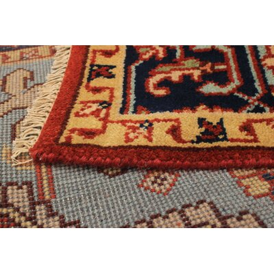One-of-a-Kind Lenita Handmade Wool Red Area Rug Rug Size: Rectangle 6 x 91