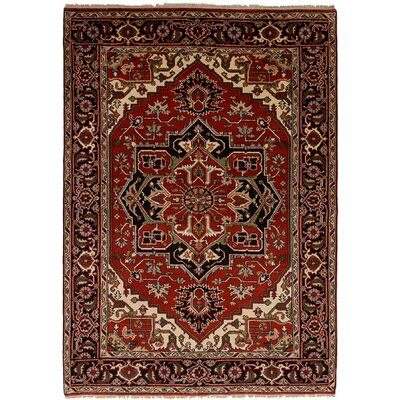 One-of-a-Kind Lenita Handmade Wool Red Area Rug