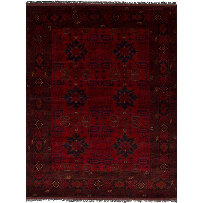 One-of-a-Kind Lelia Handmade Wool Red Area Rug